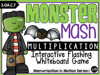Brain Break Memorization in Motion Multiplication Monster Mash Halloween