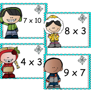 Memorization in Motion Multiplication- Winter Warm Up Edition