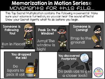 Brain Break Memorization in Motion Multiplication Top Secret