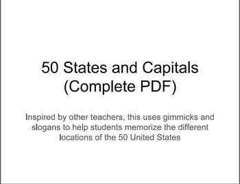 Memorize the 50 United States' Locations (Complete PDF)