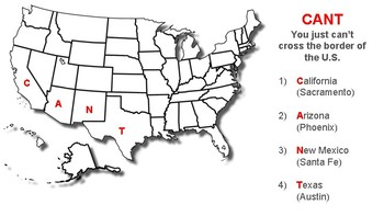 Memorize the 50 United States' Locations (Partial)