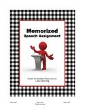 Memorized Speech Assignment
