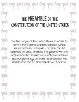 Memorizing the Preamble of the Constitution