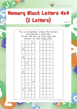 Memory Block Letters 4x4 (2 Letters)