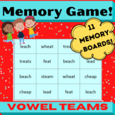 Concentration Memory Board Games for Vowel Teams- Orton Gi