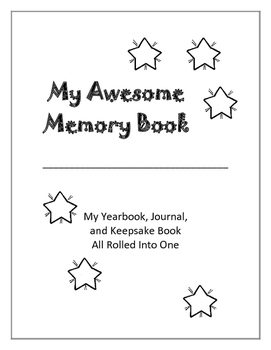ABOUT ME | Begin Year | MEMORY BOOK | Keepsake Memories | Grade 4 - 5 - 6