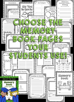 First Grade Memory Book - First Grade End of Year Activity