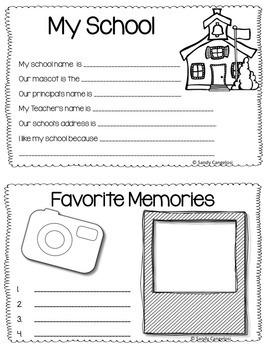 END OF THE YEAR ACTIVITIES: MEMORY BOOK