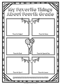 Fourth Grade Memory Book - Fourth Grade End of Year Activity