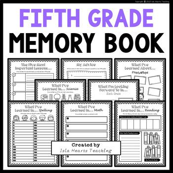 Fifth Grade Memory Book