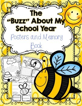 End of the Year Memory Book and Posters: Bee Themed