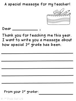 Memory Book 1st grade