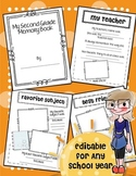 EDITABLE Memory Book ANY year End of Year