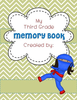 Memory Book EDITABLE NINJA COVER End of Year