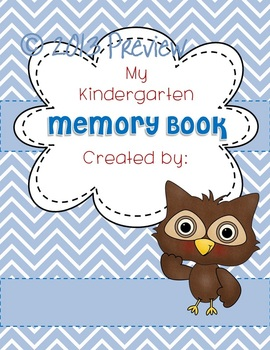 Memory Book OWL COVER End of Year EDITABLE