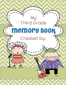 Memory Book ROCKIN' IT COVER for ANY year EDITABLE End of Year