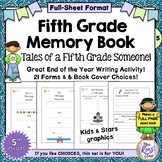 Memory Book - Fifth Grade Memory Book - End of Year Writin