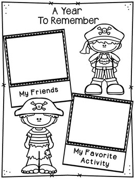 End of Year Memory Book - Pirates