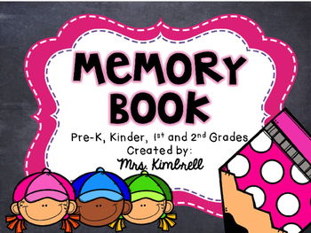 EDITABLE Memory Book for Pre-K-2nd
