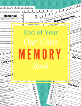End of the Year - Memory Book