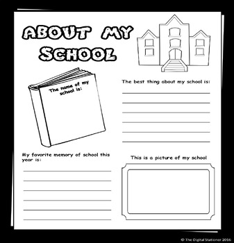 End of Year Activity - Memory Book - 30+ printables