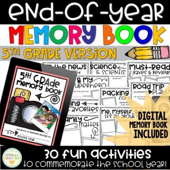 End-of-Year Memory Book - 5th Grade