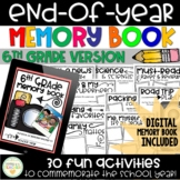 End-of-Year Memory Book - 6th Grade