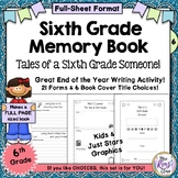 6th Grade Memory Book - End of Year Sixth Grade Memory Boo