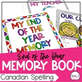 Memory Book (Canadian Spelling)