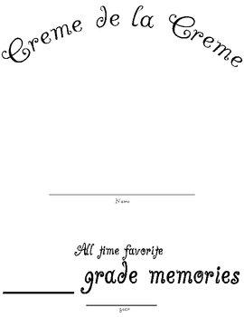 Memory Book Cover Sheet