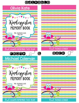 Memory Book Covers {EDITABLE}