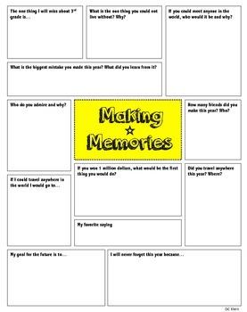Memory Book- Diary of a 3rd Grader