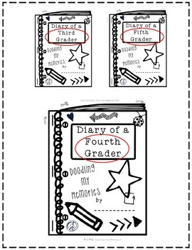End of the Year Memory Book:3rd Grade|4th Grade|5th Grade: Doodle Notes Memories