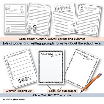 Memory Book - End of Year - 2017-2018- Printables
