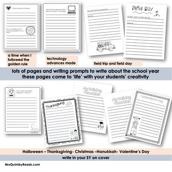 Memory Book   End of Year   2017-2018   Printables