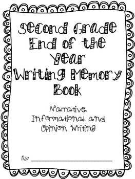 Memory Book (End of the Year) 1st and 2nd grade
