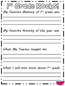 Memory Book (End of the Year Activity)