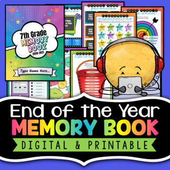 Memory Book - End of the Year Activity - Fun Last Day of School Activity