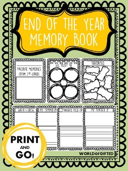 Memory Book: End of the Year Memories {Writing, Reflecting, Proofreading}