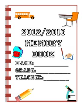 Memory Book - End of the school year activities-