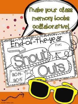 Memory Book: End of the Year Shout Outs