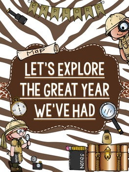 "Memory Book: Exploring our Great Year ""Explorer"" Theme"