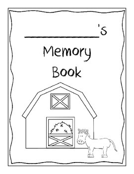 Memory Book - Farm Theme! - End of the Year