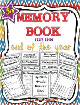 End of Year - Memory Book: Fifth Grade