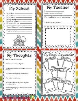 Memory Book: First Grade