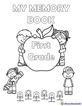 End of the Year Memory Book - First Grade