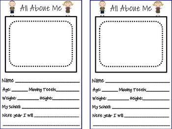 Memory Book For Kindergarten
