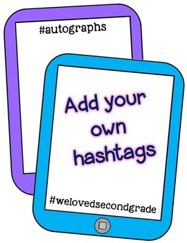 End of the Year Hashtag Memory Book For Teachers