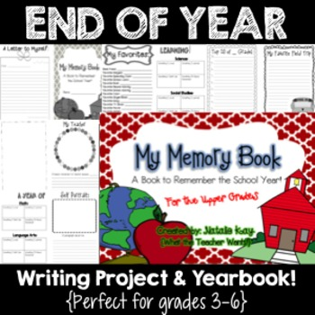 Memory Book - Yearbook - Writing Project For the Upper Grades