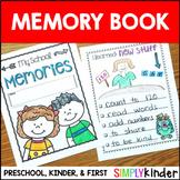 Kindergarten Memory Book - First Grade Memory Book - Presc